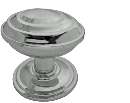 Ronson Oval Mortice Door Knobs, Polished Nickel, Satin Nickel Or Antique Brass - JV65